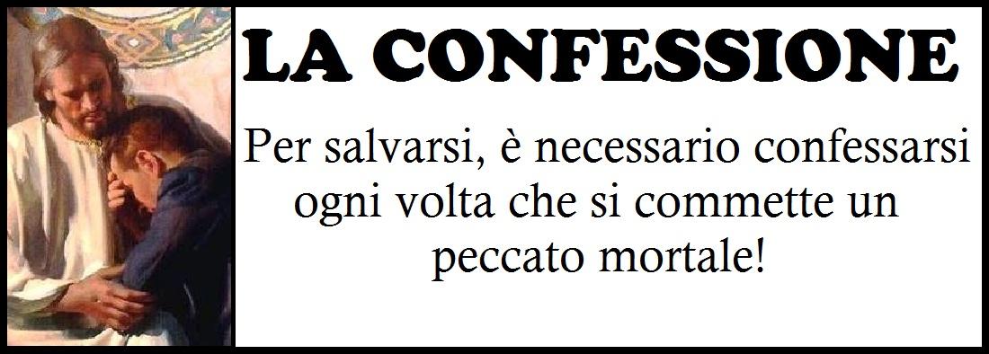 pulsante confessione