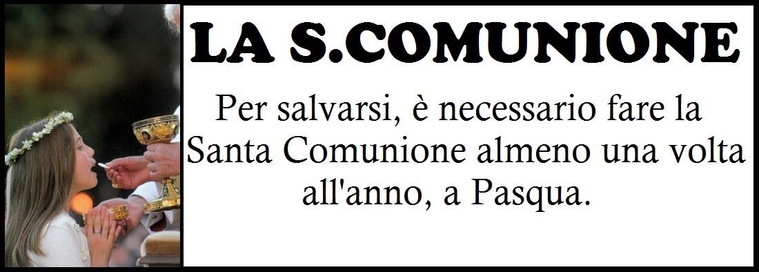 pulsante santa comunione